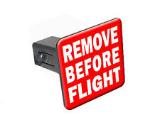 "Remove Before Flight - 1 1/4"" 1.25"" Trailer Hitch Cover Plug Insert RV"