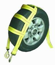 2 Car Hauler Tire Holder Straps w/ Hook Auto Trailer