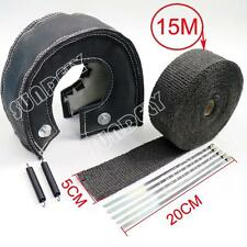 """T3 Black out Lava Turbo Blanket & 2"""" x 50FT Exhaust Header Heat Pipe Wrap Tape"""