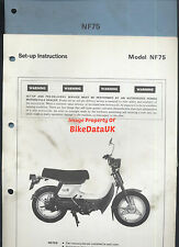 Honda NF75 1978-on Dealership Set-Up Manual NF 75 V-Matic Classic Moped Scooter