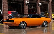 "Dodge Challenger muscle cars Hot rod custom Orange Poster 19"" x 13"""