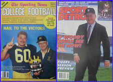 1988 Yearbook Sporting News College football & 1990 Detroit Sports Magazine PRO