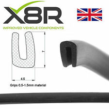 Small Black Rubber U Channel Edging Seal Trim Edge Protect Protection Car Van