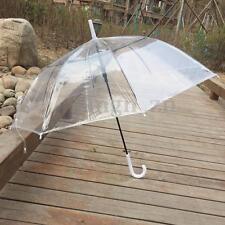 Parapluie Transparent Cloche Ouverture Automatique Dôme Parasol Umbrella Mariage