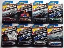 2015 HOT WHEELS  FAST & FURIOUS complete set of 8 new