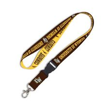 WYOMING COWBOYS LANYARD DETACHABLE BUCKLE BRAND NEW FREE SHIPPING WINCRAFT