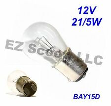 TAIL BRAKE LIGHT BULB OEM 12V 21/5W BAY15d SCOOTER ATV MOPED TAOTAO BENZHOU BAJA