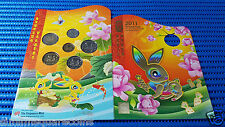 2011 Singapore Mint's Uncirculated Coin Set Hongbao Pack Lunar Rabbit 5¢-$5 Coin