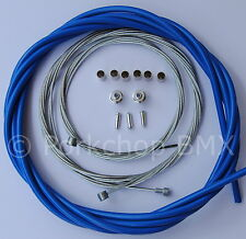 Bicycle 5mm LINED freestyle for ACS rotor brake cable kit old school BMX BLUE