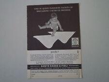 advertising Pubblicità 1962 PANNOLINI SANTO DASSO - PONTEDECIMO