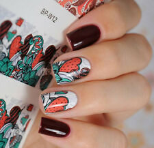 BORN PRETTY Nail Art Water Decals Transfer Stickers Mixed Flower Tips BP-W12