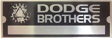 Dodge Brothers Body Vin Model Trim Number Plate Serial Tag Paint Code ID