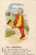 1916 GEE WILIKINS, I SAW THE POSTMAN PASSING BY, HE DID NOT STOP, I WONDER WHY