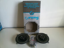 NUOVI Vintage IRVING Hi-Power 2-way 40+40W Coppia Altoparlanti Speaker AUTO NEW
