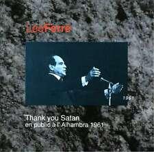 LEO FERRE  thank you satan  EN PUBLIC À L'ALHAMBRA 1961