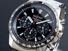 Seiko Mens Chronograph 100m Watch SSB031P1 Warranty, Box