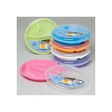8.6in Microwave Divided Plates with Vented Lids - (Set of 6 Color Bottoms New