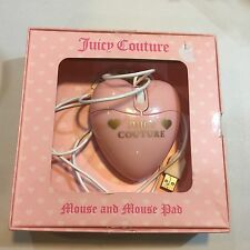 Juicy Couture Sweet Couture Pink Heart Shape Computer Mouse And Mouse Pad