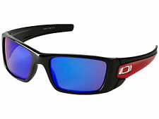 OAKLEY Angels Fuel Cell Polished Black +Red Iridium SUNGLASSES $150