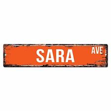 SWNA0084 SARA AVE Street Chic Sign Home Store Shop Wall Decor Birthday Gift