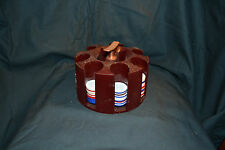Vintage Plastic Poker Chip Holder with chips