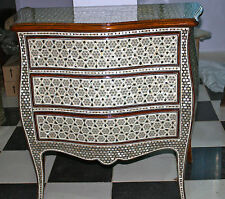 "Egyptian Inlaid Mother of Pearl Wooden Dresser 3 Drawer 32""X12""X36"" (from Egypt)"