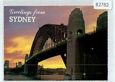 B2782cgt Australia NSW Sydney Harbour Bridge at dusk NCV postcard