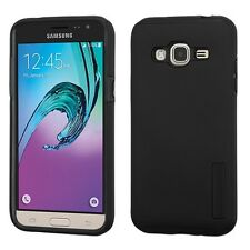 Black/Black Hybrid Phone Protector Cover Case for Samsung Galaxy J3/Amp Prime