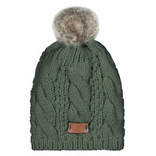Aran Traditions Womans Ladies Men Winter Warm Green Beanie bobble Hat