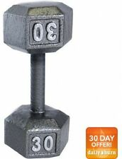 CAP 30 lbs Barbell Cast Iron Dumbbell Single Weight New