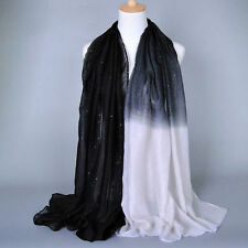 Womens Scarf Neck Scarves Wrap Long Plain Chiffon Ladies Soft Stole Shawl Cape