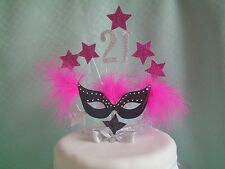 MASQUERADE MASK  CAKE TOP/TOPPER / ANY AGE /18th/21st/30th/40th/50th /FREEPOST