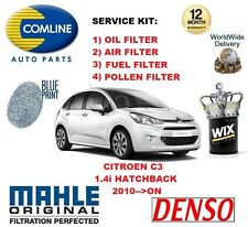 FOR CITROEN C3 1.4 2010-- ON OIL AIR FUEL POLLEN FILTER SERVICE KIT