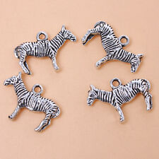 20pcs Hotsale Antique Silver Zebra Animal Alloy PendantsJewelry Findings Lots J