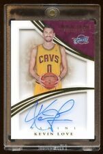 2014-15 IMMACULATE KEVIN LOVE AUTO #D /35 MINT AUTOGRAPH ON CARD CAVS CHAMPIONS