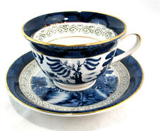 Tea Cup and Saucer Set Occupied Japan Iron Stoneware Nikko Double Phoenix