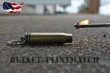 Flint Match, Survival Lighter, Fire Starter, -  Bullet 1X USA