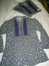 LOT of 2 WOMAN WITHIN NWOT size M 14 16 Top Blouse Shirt long sleeve button down