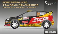 DECALS 1/43 FORD FIESTA WRC #21 - PROKOP - RALLYE DE POLOGNE 2014 - MFZ  D43328