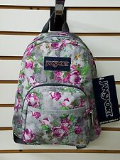 Jansport HALF PINT (Mini backpack) Multi Concrete Flowers *New for 2016*
