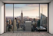 """PENTHOUSE"" NEW YORK CITY SKYLINE Wallpaper Wall Mural  Made in Germany!"