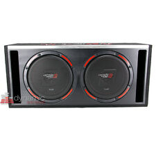 "Cerwin Vega H6E10DV 10"" Car Stereo Dual Subwoofers Loaded Sub Enclosure New"