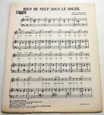 Partition vintage sheet music JACQUELINE DULAC : Rien de Neuf * 60's