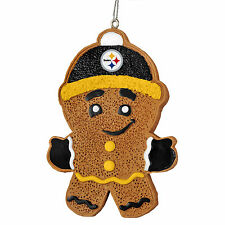 Pittsburgh Steelers Gingerbread Man Christmas Tree Ornament NEW NFL - RGB13