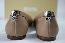 NIB MICHAEL KORS Size 6 Womens Dark Khaki 100% Leather HAMILTON Point Toe Loafer