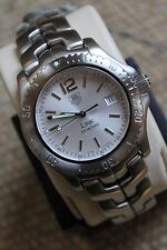 Tag Heuer NEW Watch Mens WT1112.BA0550 Link SILVER CRYSTAL PROFESSIONAL GRAY NWT