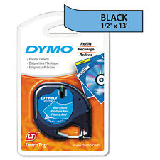 DYMO LetraTag Plastic Label Tape Cassette, 1/2in x 13ft, Ultra Blue - DYM91335