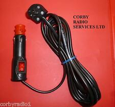TAXI METER ROOF LIGHT SWITCHED CABLE BLACK 3mts PLUG  WITH FUSED & ON/OFF PLUG