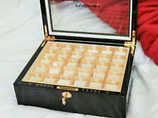 ORIGINAL PANDORA LTD ED 2008 HEAVY LARGE SIZED BLACK WOOD 2 TRAY JEWELLERY BOX