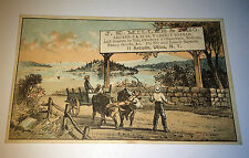 Antique Victorian JK Miller & Bro Variety Bazaar Advertising New York Trade Card